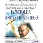 Ks. W. Andrzejewski plakat